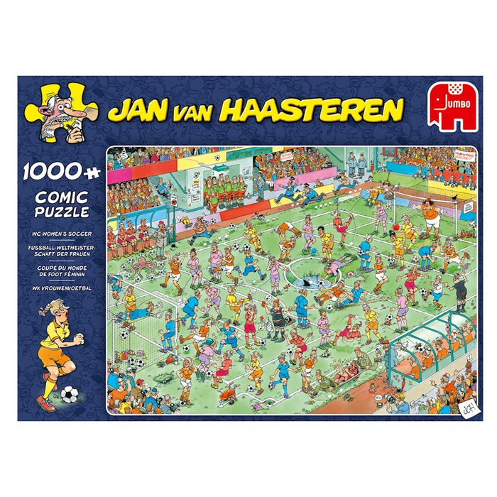 World Championships Womens Soccer - Jan Van Haasteren 1000 Piece Jigsaw Puzzle box 1