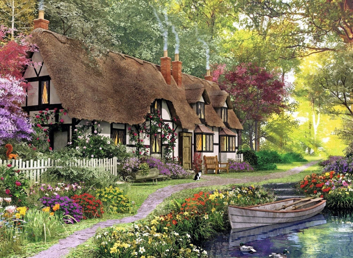 Carpenters Cottage 200 Piece XL Jigsaw Puzzle