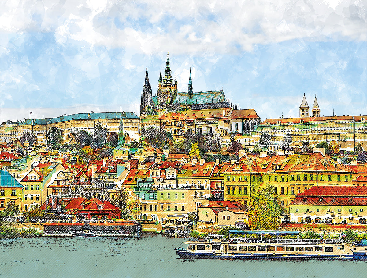 A Boat Trip in Prague 1000 Piece Jigsaw Puzzle - All Jigsaw Puzzles