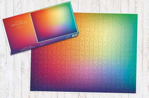 Blurry Rainbow - Impuzzible - 1000 Piece Jigsaw Puzzle - All Jigsaw Puzzles