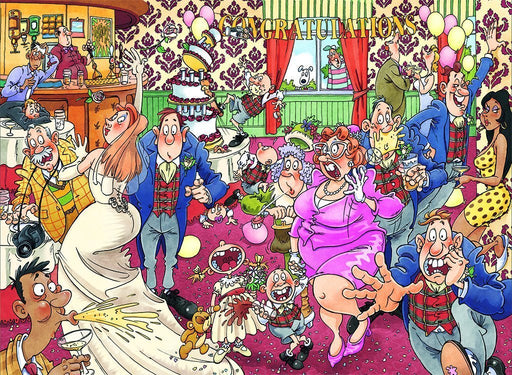 Wasgij 29 Catching Wedding Fever! 1000 Piece Jigsaw Puzzle - All Jigsaw Puzzles