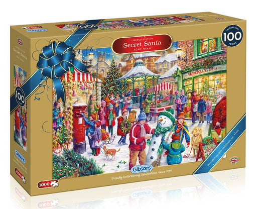 Secret Santa Christmas Limited Edition 1000 Piece Jigsaw Puzzle - All Jigsaw Puzzles