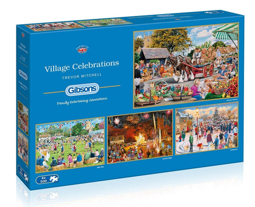 Village Celebrations 4 x 500 Piece Jigsaw Puzzle - All Jigsaw Puzzles
