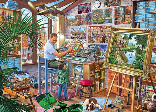 A Work of Art - Steve Crisp - 1000 Piece Jigsaw Puzzle - All Jigsaw Puzzles