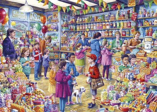 The Old Sweet Shop 1000 Piece Jigsaw Puzzle - All Jigsaw Puzzles