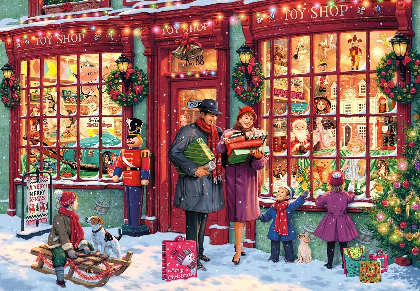 Christmas Toy Shop 2000 Piece Jigsaw Puzzle - All Jigsaw Puzzles