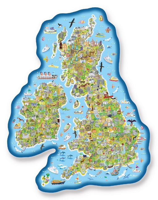 Jigmap - Great Britain & Ireland 150 Piece Jigsaw Puzzle - All Jigsaw Puzzles
