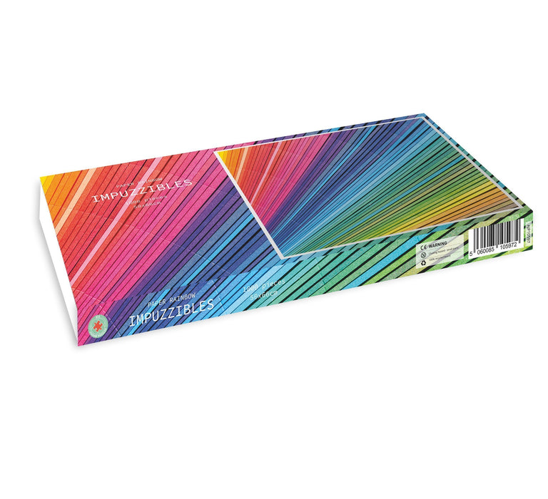 Paper Rainbow - Impuzzible - 1000 piece jigsaw puzzle - All Jigsaw Puzzles