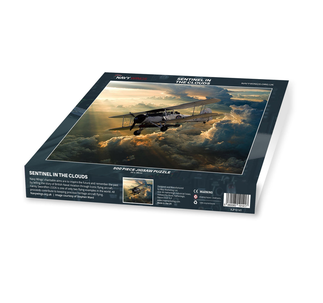 Sentinel in the Clouds - Navy Wings 500 Piece Jigsaw Puzzle - All Jigsaw Puzzles