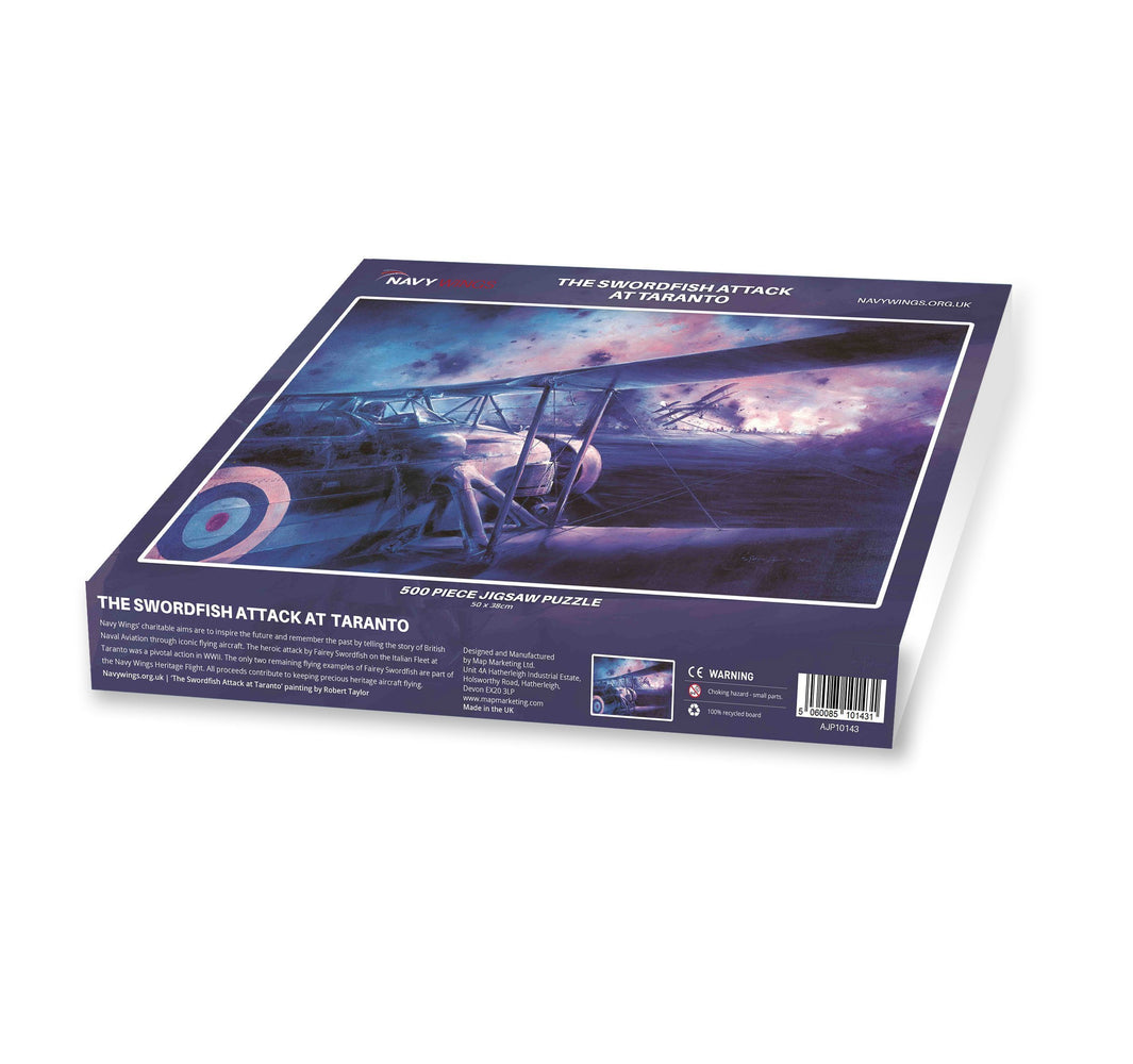 The Swordfish attack at Taranto - Navy Wings 500 Piece Jigsaw Puzzle - All Jigsaw Puzzles
