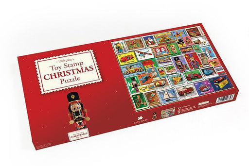 Christmas Toy Stamps 1000 or 500 piece jigsaw puzzle - All Jigsaw Puzzles