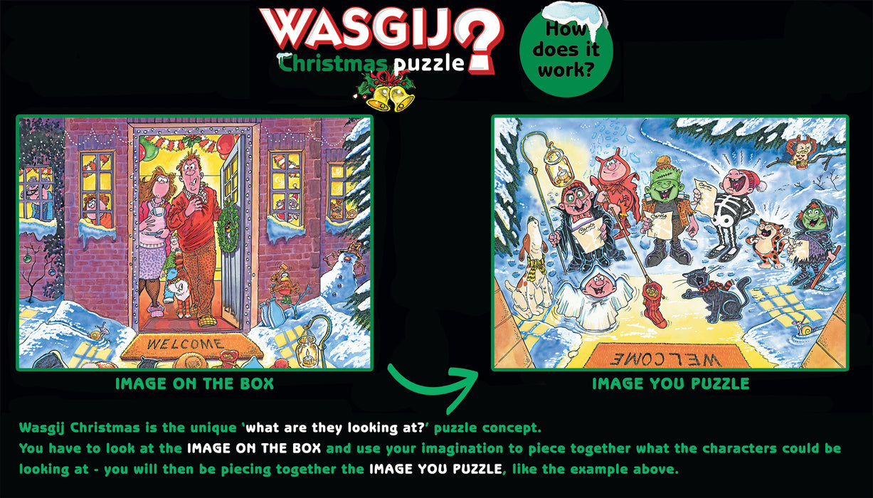 Wasgij Christmas 15 'Santa's Unexpected Delivery!' 1000 Piece Jigsaw Puzzle