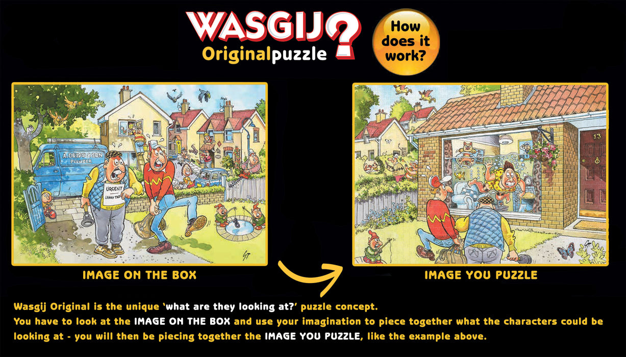 Wasgij Retro Original 3: Full Monty Fever! 1000 Piece Jigsaw Puzzle