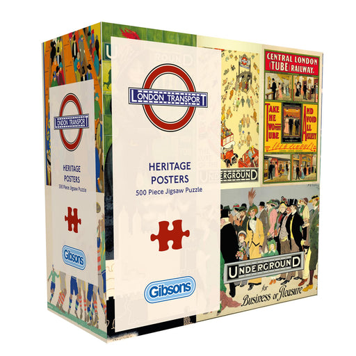 TFL Heritage Posters 500 or 1000 Piece Jigsaw Puzzle - All Jigsaw Puzzles