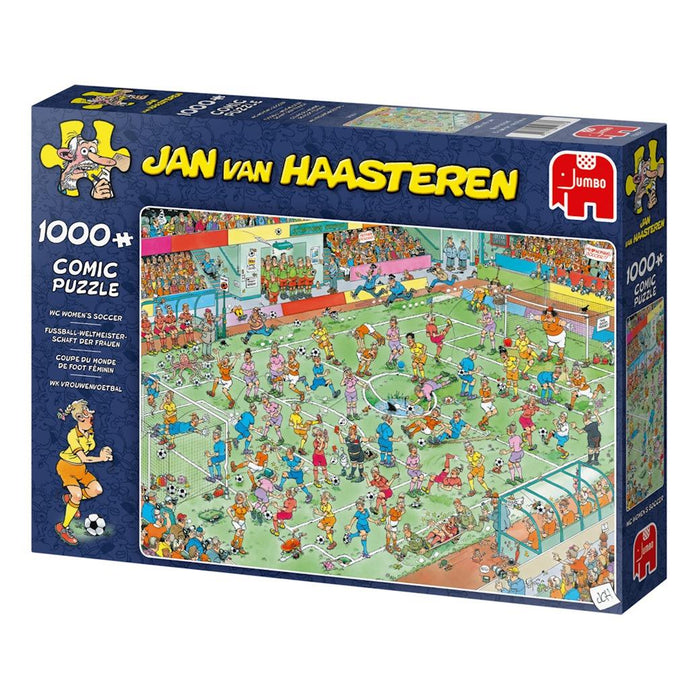 World Championships Womens Soccer - Jan Van Haasteren 1000 Piece Jigsaw Puzzl box