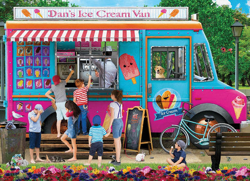 Dan's Ice Cream Van P. Normand 1000 Piece Jigsaw Puzzle - All Jigsaw Puzzles