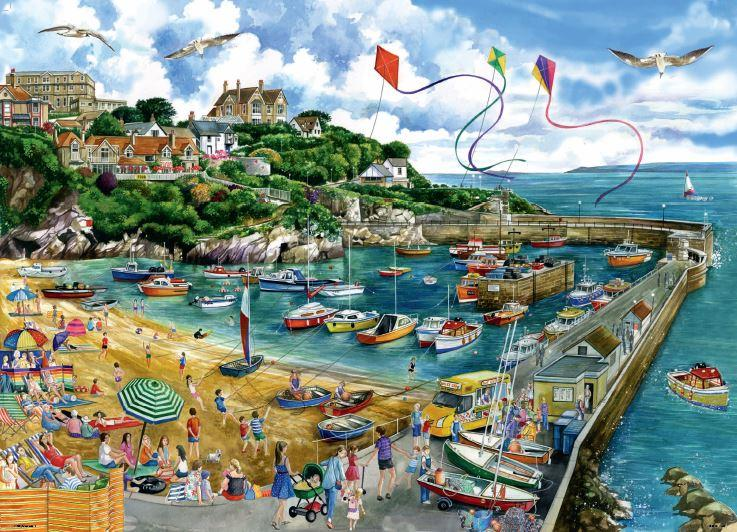 New 2020 -  Falcon de luxe Newquay Harbour 1000 Piece Jigsaw Puzzle - All Jigsaw Puzzles