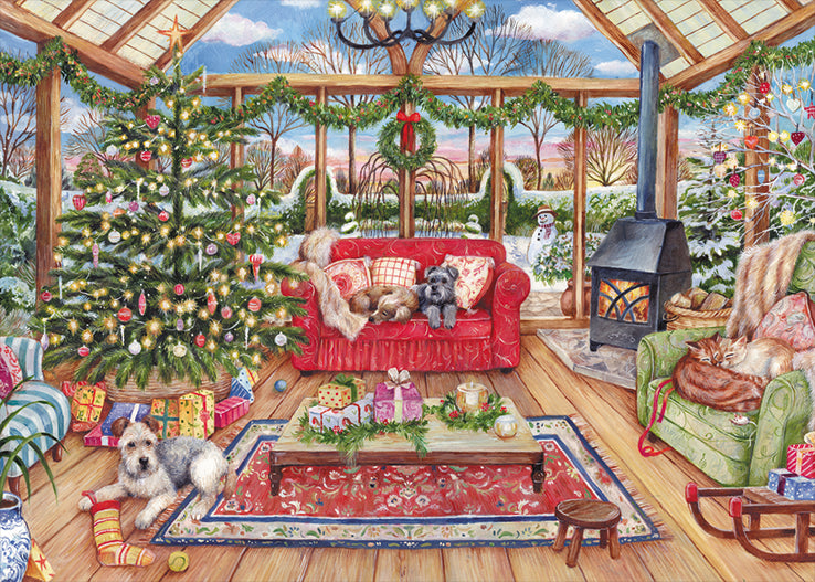 Christmas Conservatory 1000 Piece Jigsaw Puzzle - All Jigsaw Puzzles