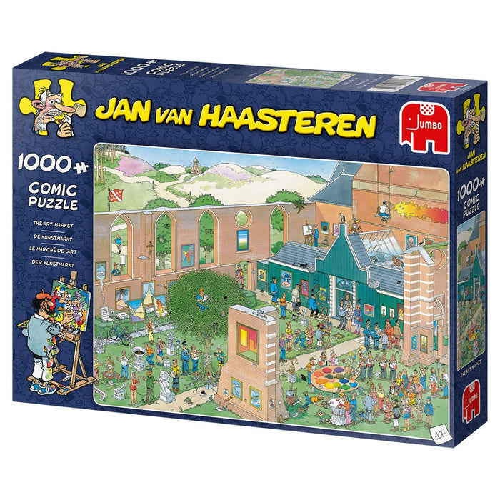 New 2020 - Jan van Haasteren's Art Market 1000 Piece Jigsaw Puzzle - All Jigsaw Puzzles