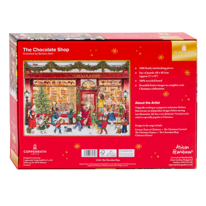 The Chocolate Shop - Coppenrath 1000 Piece Jigsaw Puzzle back