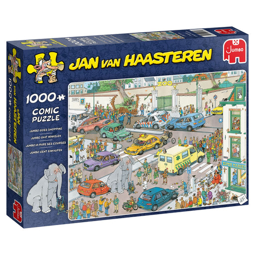 Jan van Haasteren Jumbo Goes Shopping 1000 Piece Jigsaw box
