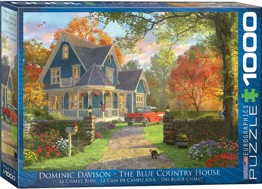 The Blue Country House - Dominic Davison 1000 Piece Jigsaw Puzzle - All Jigsaw Puzzles