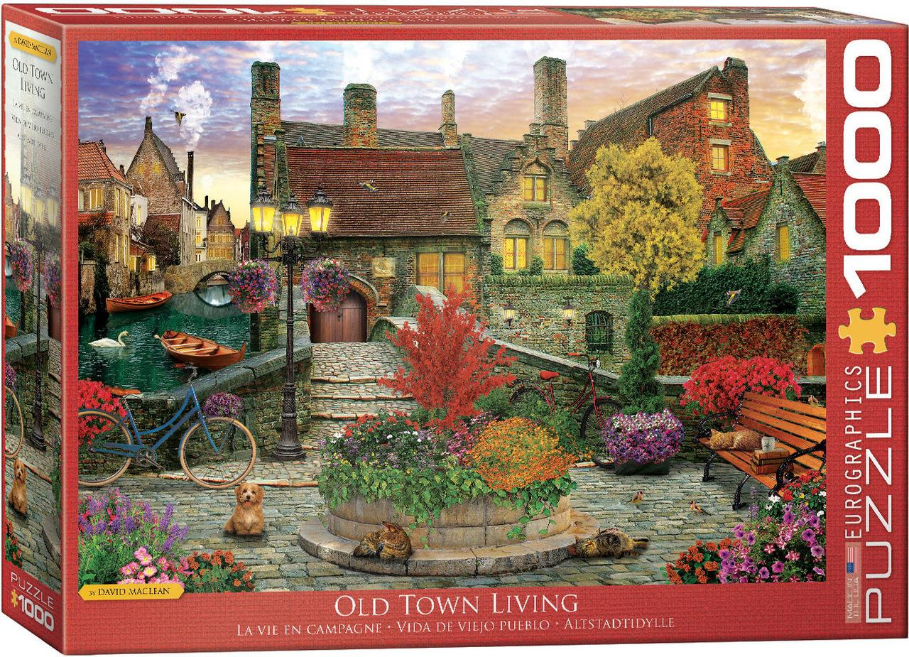 Old Town Living by Dominic Davison 1000 Piece Jigsaw Puzzle - All Jigsaw Puzzles