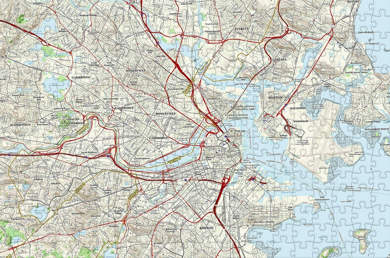 Boston City Map Jigsaw Puzzle - 300 Piece Wooden Jigsaw Puzzle on european puzzles, printable world geography puzzles, floor puzzles, australian puzzles, map of germany and austria, map puzzles online, melissa and doug knob puzzles, large disney puzzles, map desktop wallpaper, map of countries the uk, north american wildlife puzzles, map puzzles easy, wildlife gallery puzzles, map of continents,
