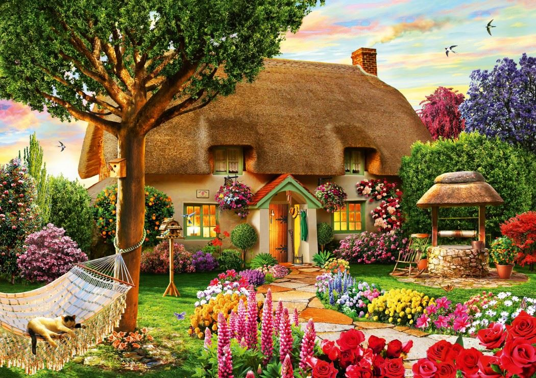 Thatched Cottage 1000 Piece Jigsaw Puzzle