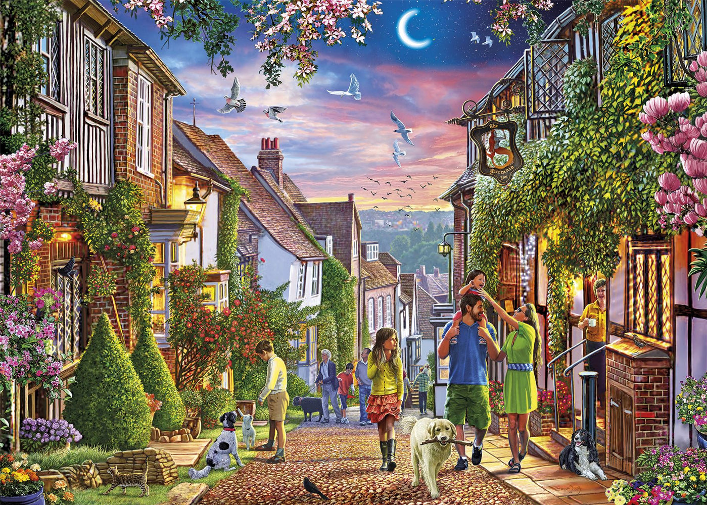 New 2020 Gibsons Mermaid Street, Rye 1000 piece Jigsaw Puzzle - All Jigsaw Puzzles
