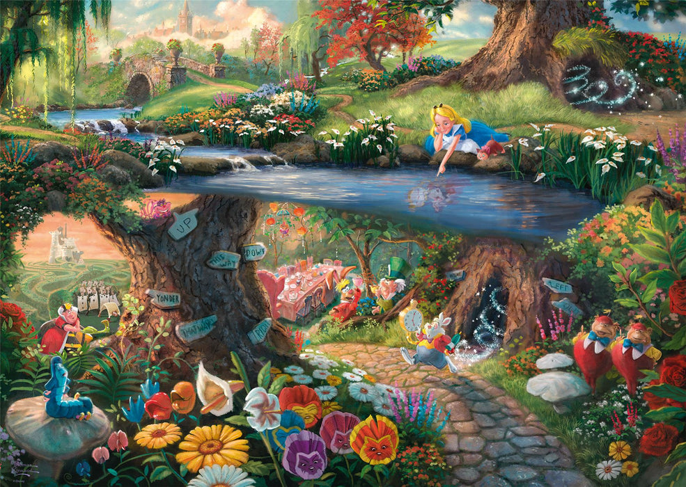 New 2020 - Thomas Kinkade: Disney, Alice in Wonderland 1000 Piece Jigsaw Puzzle - All Jigsaw Puzzles