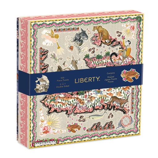 Liberty London Maxine 500 Piece Double Sided Jigsaw Puzzle With Shaped Pieces