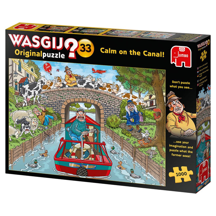 New 2020 -  Wasgij Original 33 Calm on the Canal 1000 Piece Jigsaw Puzzle - All Jigsaw Puzzles