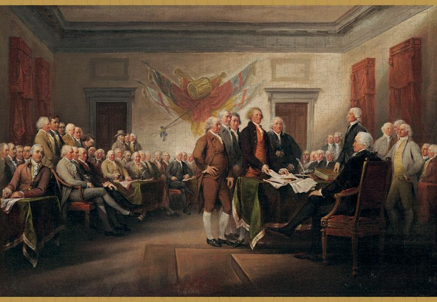 John Trumbull: The Declaration of Independence, July 4, 1776 1000 Piece Jigsaw cu