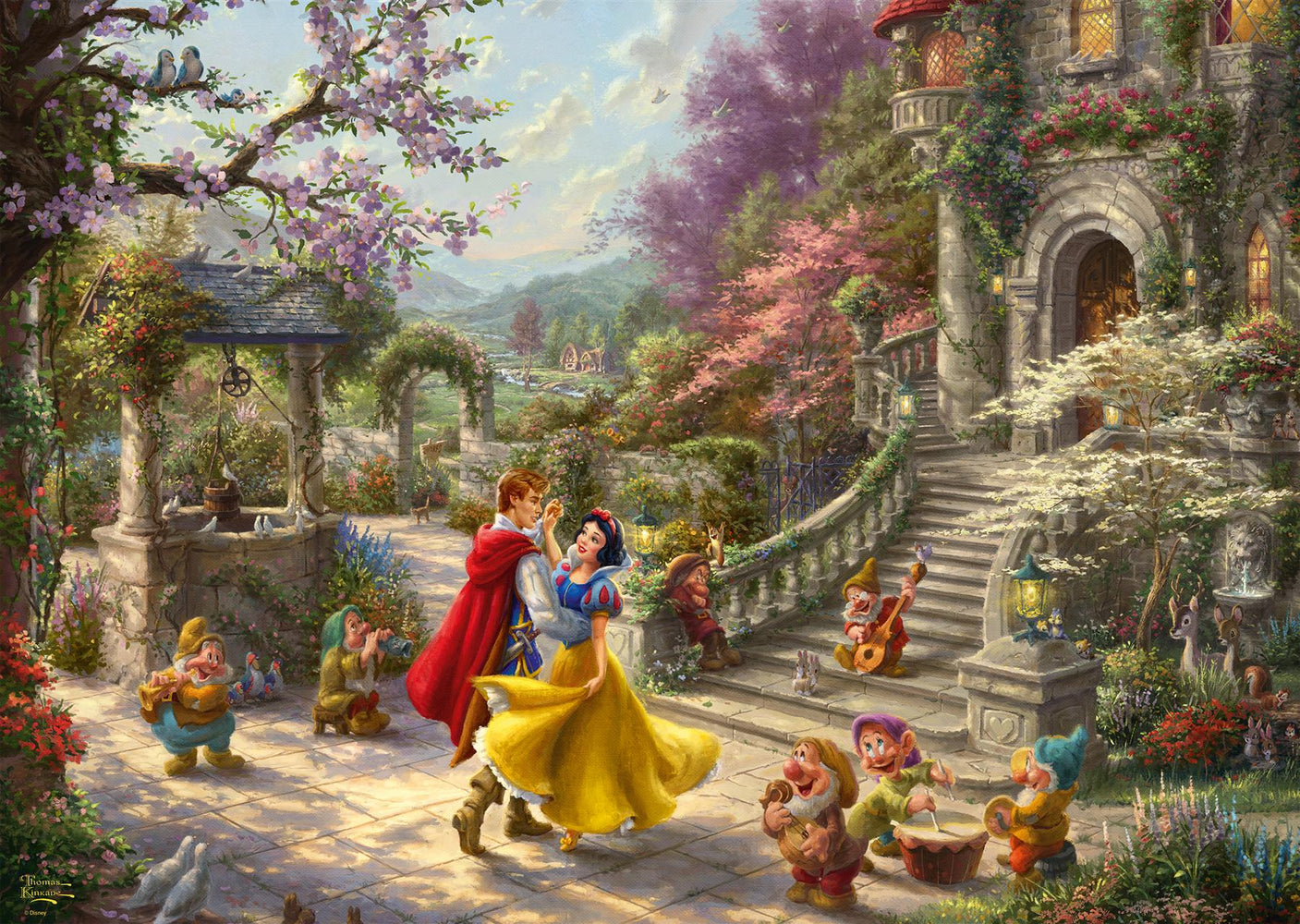 Thomas Kinkade - Disney, Snow White - Dancing with the Prince 1000 Piece Jigsaw Puzzle - All Jigsaw Puzzles