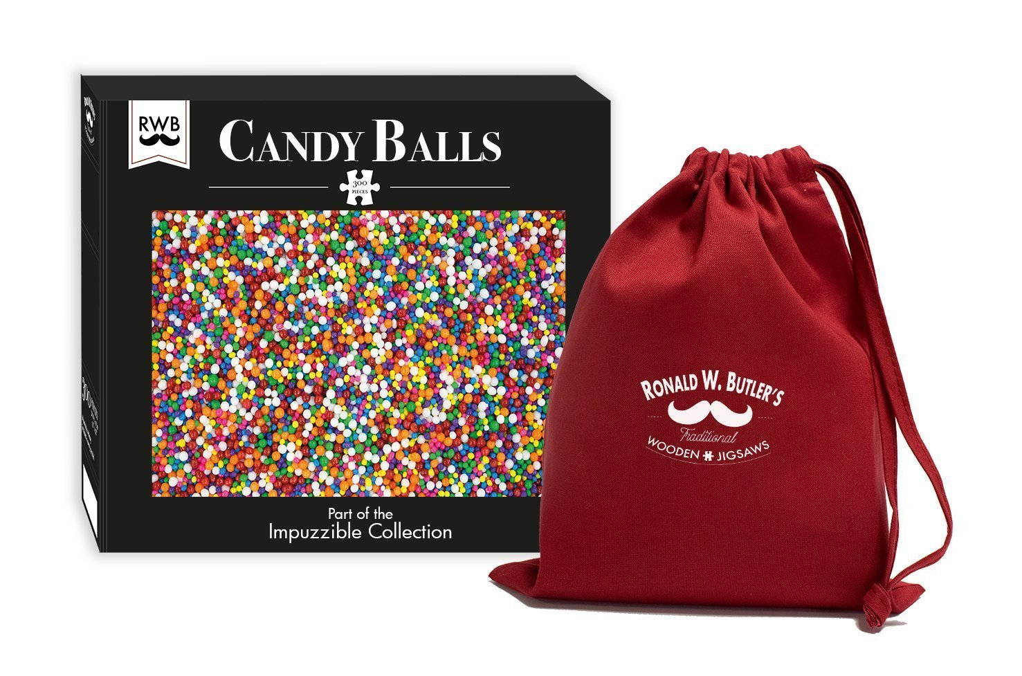 Candy Balls - Impuzzible - 300 Piece Wooden Jigsaw Puzzle - All Jigsaw Puzzles
