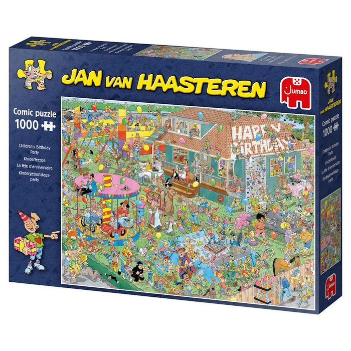 Children's Birthday Party - Jan Van Haasteren 1000 Piece Jigsaw Puzzle box