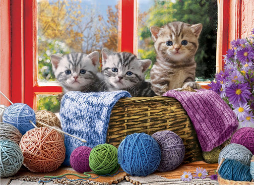 Knittin' Kittens 500xl Puzzle - All Jigsaw Puzzles