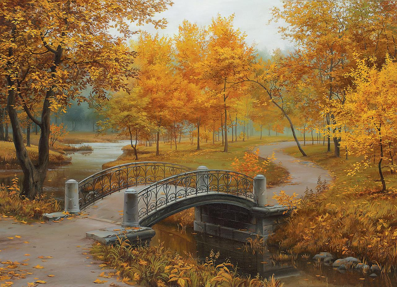 Autumn in an Old Park 1000 Piece Jigsaw Puzzle - All Jigsaw Puzzles