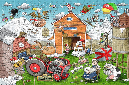 Christmas at Chaos Farm 300 Piece Wooden Jigsaw Puzzle - All Jigsaw Puzzles