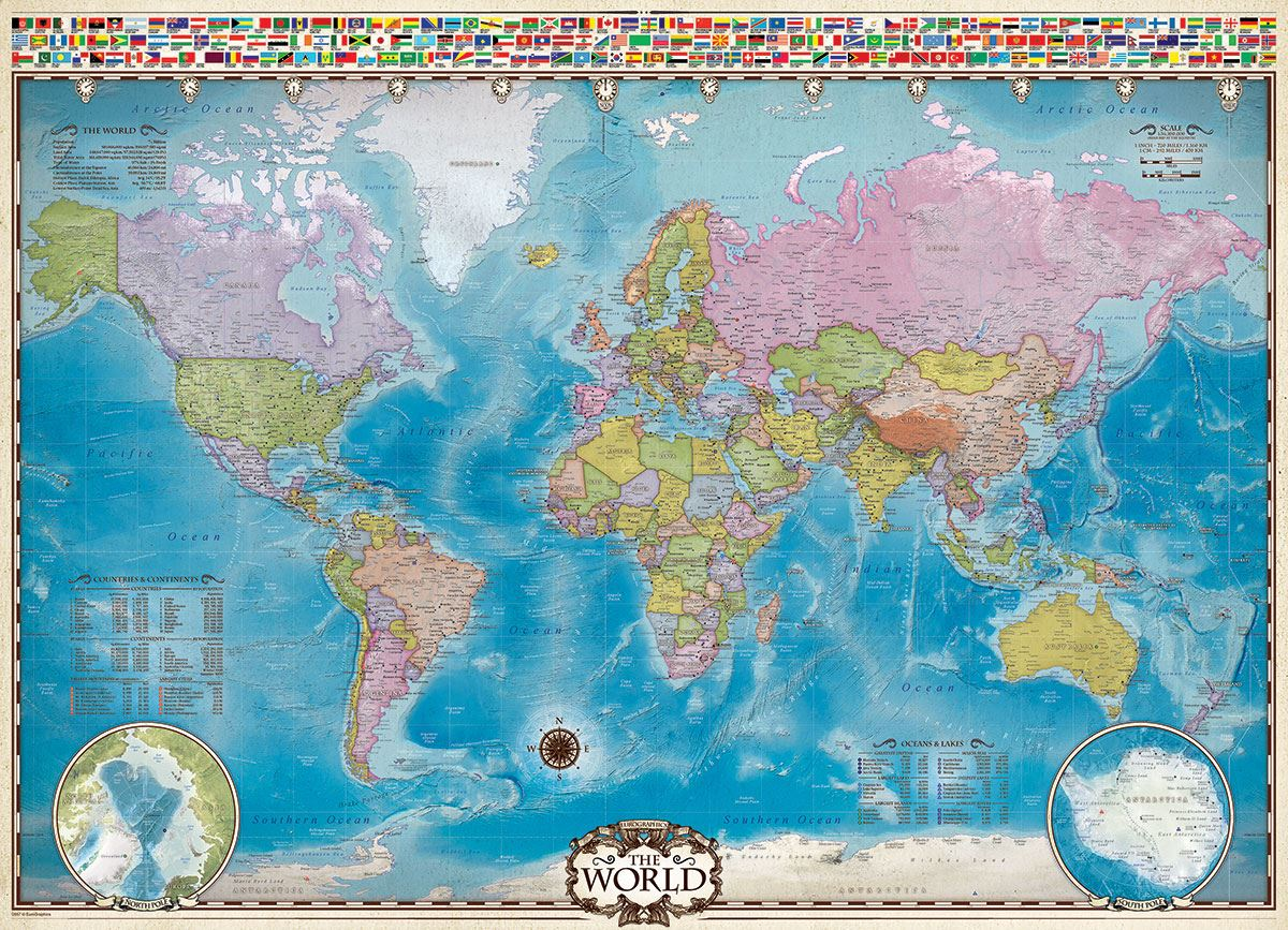 Map of the World 1000 Piece Jigsaw Puzzle