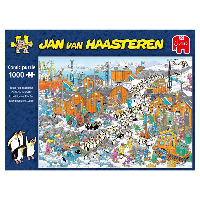Jan van Haasteren South Pole Expedition 1000 Piece Jigsaw Puzzle box