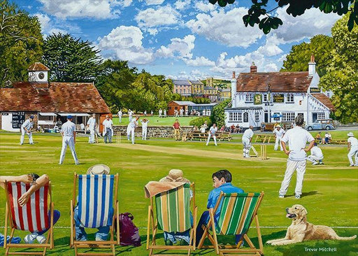 Village Sporting Greens 2 x 1000 Piece Jigsaw Puzzle