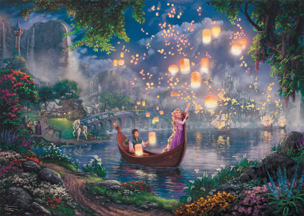 Thomas Kinkade - Disney Tangled 1000 Pieces Jigsaw Puzzle - All Jigsaw Puzzles
