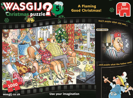 Wasgij Christmas 5 A Flaming Good Christmas 1000 piece Jigsaw Puzzles - All Jigsaw Puzzles