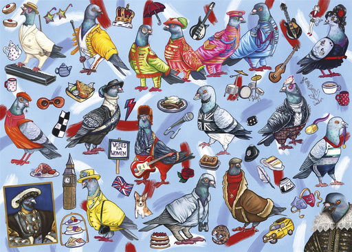 Pigeons of Britain 1000 Piece Jigsaw Puzzle