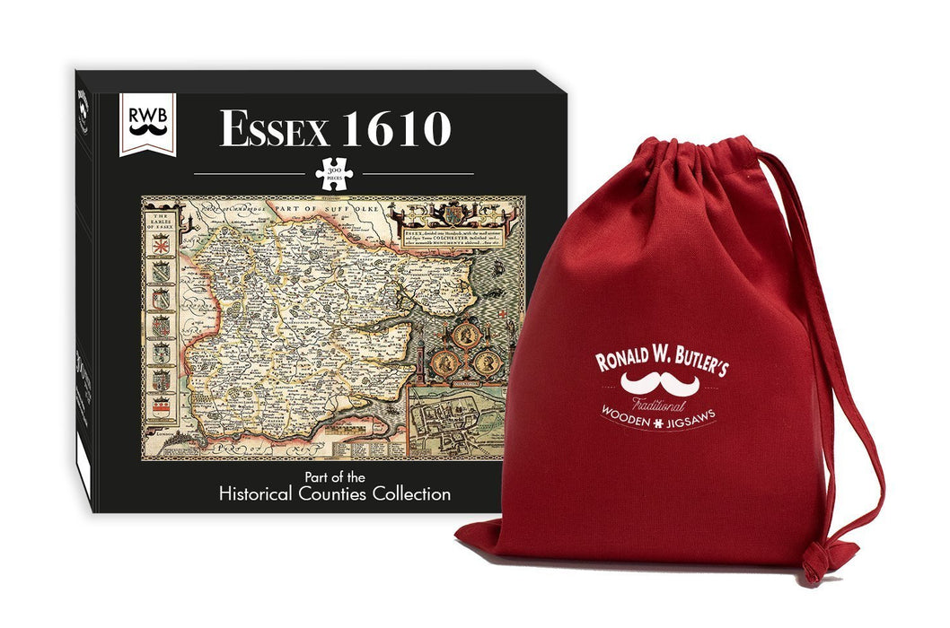Essex 1610 Historical Map 300 Piece Wooden Jigsaw Puzzle - All Jigsaw Puzzles