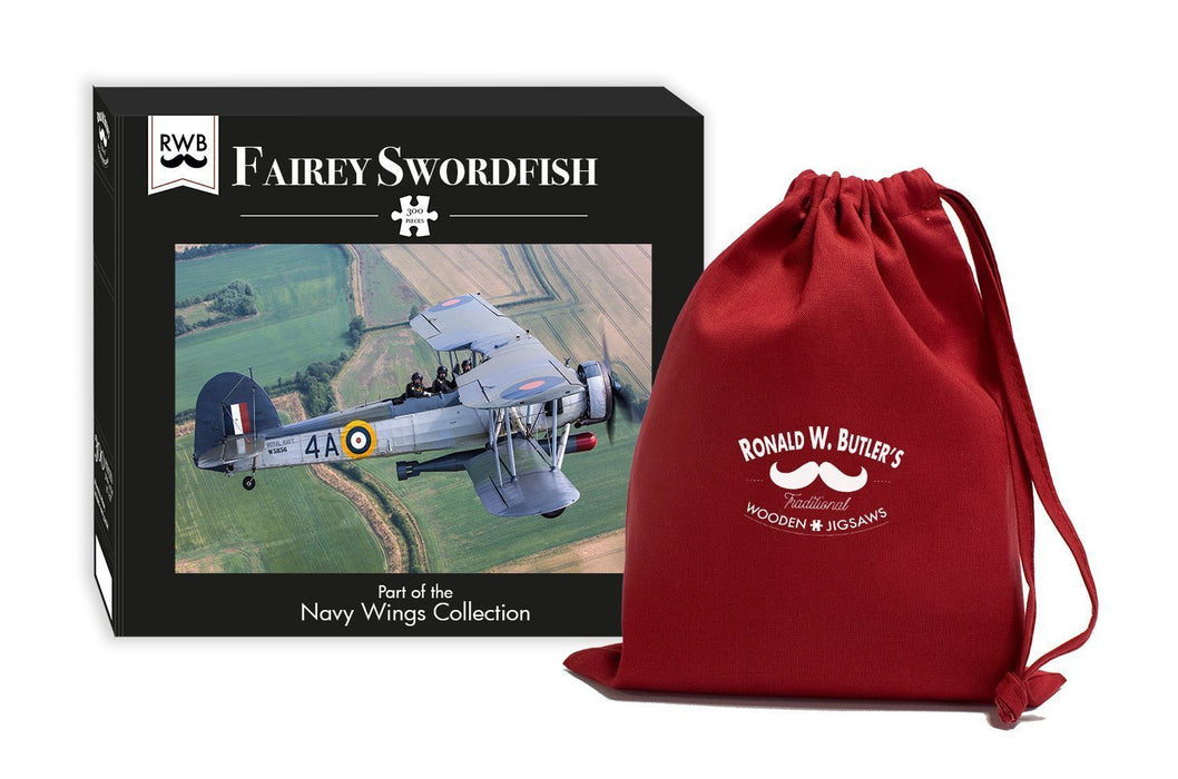 Fairey Swordfish - Navy Wings 300 Wooden Piece Jigsaw Puzzle - All Jigsaw Puzzles