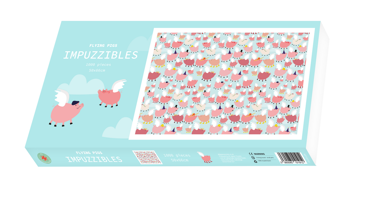 Flying Pigs - Impuzzible - 1000 Piece Jigsaw Puzzle - All Jigsaw Puzzles