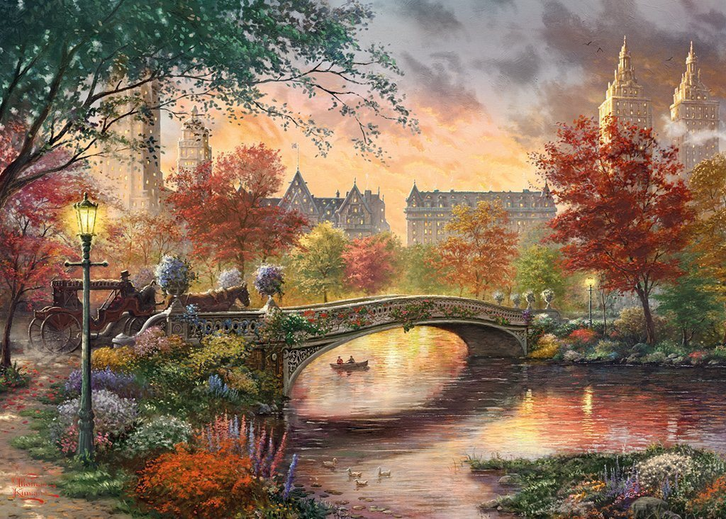 Autumn in New York - Thomas Kinkade 1000 Piece Jigsaw Puzzle - All Jigsaw Puzzles